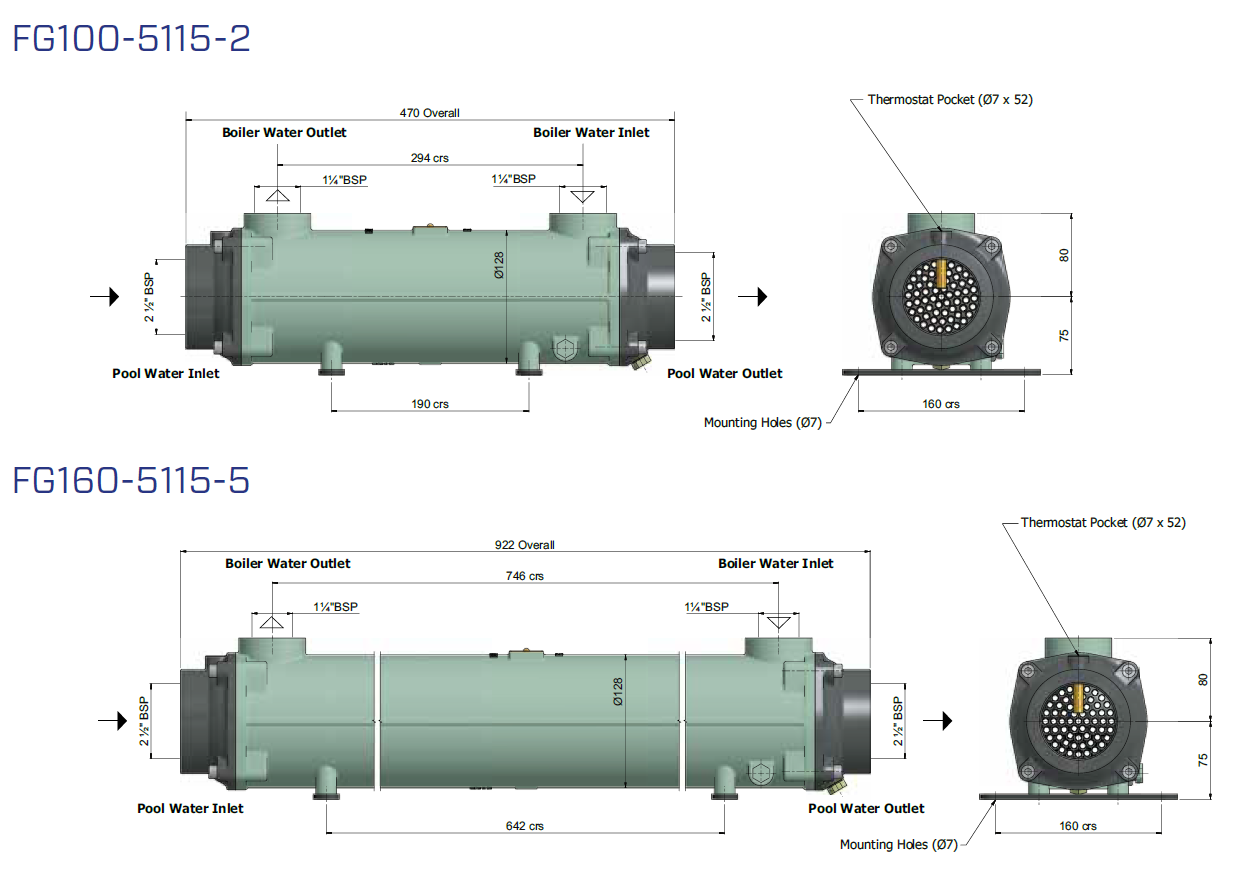 BOWMAN Heat Exchangers Dimensions 2